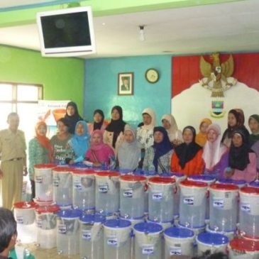 Ceramics Filter Given Away at Village Pasirhalang, Padalarang, West Bandung