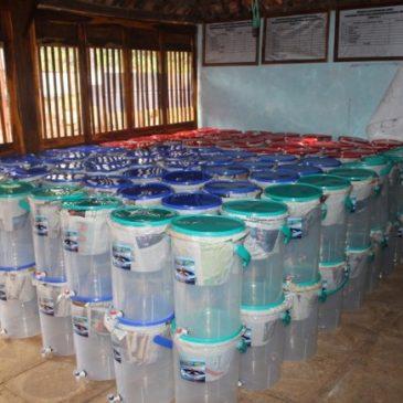Distribution of Ceramics Filter in the Village of Duwet, Jogyakarta, Center Java.