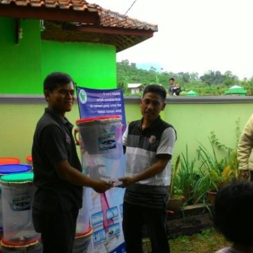 Distribution of 50 Ceramic Water Filters in RT. 002 – Kel. Margamulya