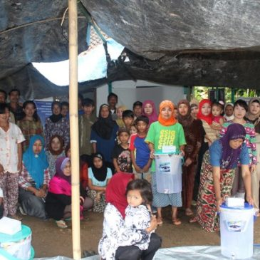 Ceramics Filter Give Away in Village Sukabakti, Naringul, District Cianjur, West Java