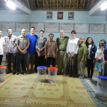 Filter Give Away in Village Winangun, Gunung Kidul, Jogjakarta