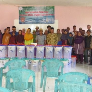 40 Ceramic Filter Giveaway at Village Bojonghaleuang, District Saguling, West Bandung